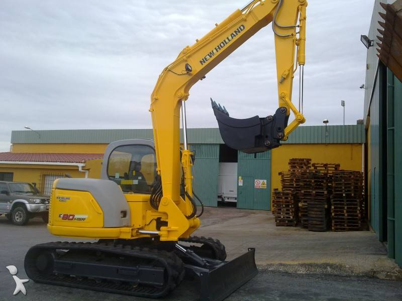 New Holland E80 Mini Hydraulic Crawler Excavator Service